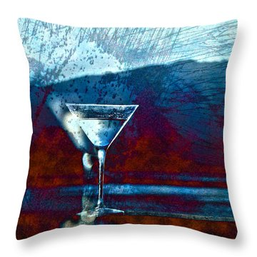 In Good Spirits Throw Pillow by Cynthia Lagoudakis