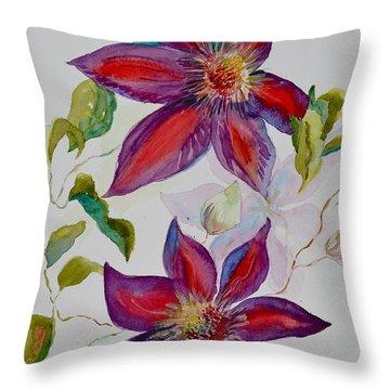In Grandpa's Garden Throw Pillow by Beverley Harper Tinsley