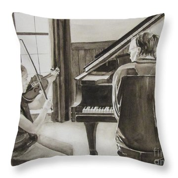 In Harmony Throw Pillow by Carol Flagg