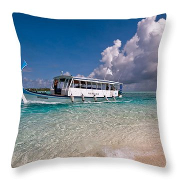 In Harmony With Nature. Maldives Throw Pillow by Jenny Rainbow