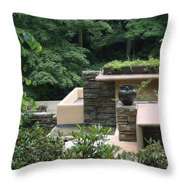 In Harmony With Nature Throw Pillow by Yvonne Wright