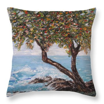 In Hawaii Throw Pillow