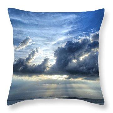 In Heaven's Light - Beach Ocean Art By Sharon Cummings Throw Pillow by Sharon Cummings