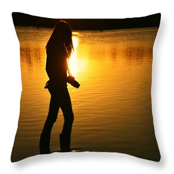 In Her Element Throw Pillow by Laura Fasulo