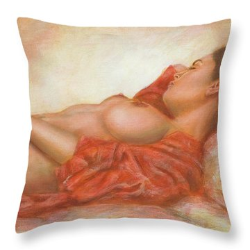In Her Own World Throw Pillow