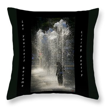 In His Own World Throw Pillow