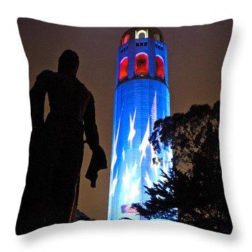 In Honor Of 911's Fallen Heros Throw Pillow