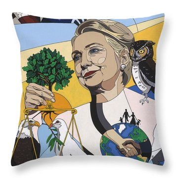 In Honor Of Hillary Clinton Throw Pillow