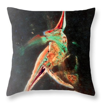Throw Pillow featuring the painting In Jest by Jacqueline McReynolds