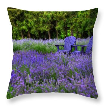 In Lavender Throw Pillow