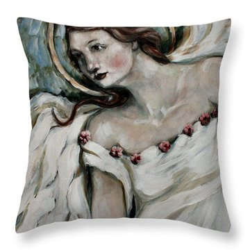 In Love Throw Pillow by Carrie Joy Byrnes