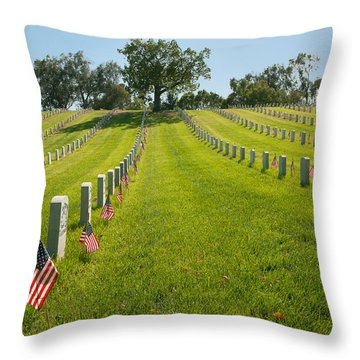 In Memorium - Los Angeles National Cemetery Throw Pillow