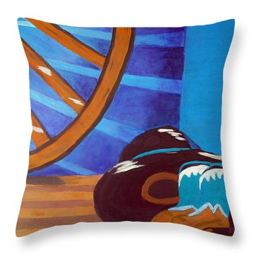 In Memory Of Cowboys Throw Pillow