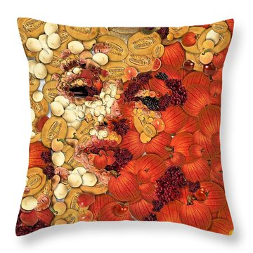 In Memory M M Throw Pillow by Dragica  Micki Fortuna