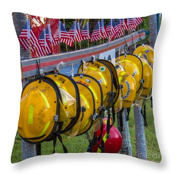 In Memory Of 19 Brave Firefighters  Throw Pillow