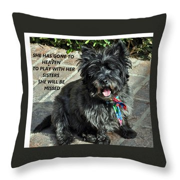 In Memory Of Her Throw Pillow