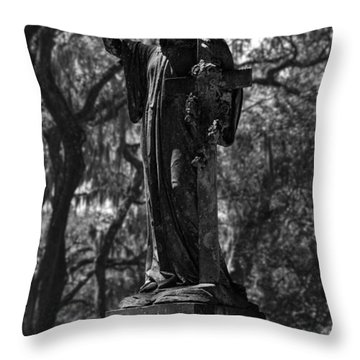 In Memory Of Monochromatic Throw Pillow by Lynn Palmer