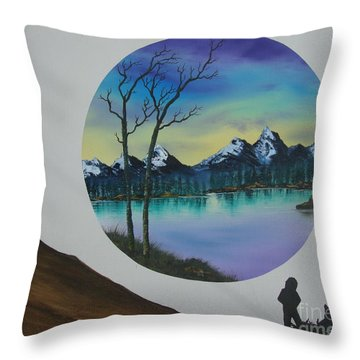 In Memory Of Ocean Throw Pillow