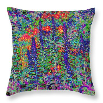 Throw Pillow featuring the photograph In My Garden by Diane Miller