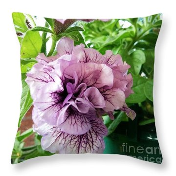 In My Garden #flowers Throw Pillow