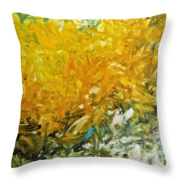 In My Magic Garden Throw Pillow by Joan Reese