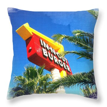In-n-out Burger Throw Pillow by Nina Prommer