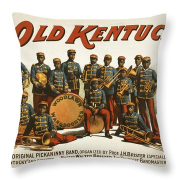 In Old Kentucky Throw Pillow