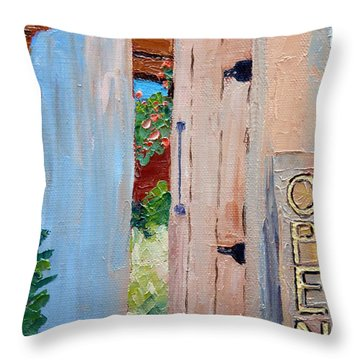In Old Mesilla Nm Throw Pillow by Susan Woodward