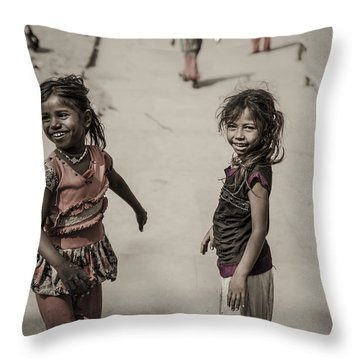 In Omkareshwar Throw Pillow by Valerie Rosen