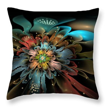 In Orbit Throw Pillow by Kim Redd