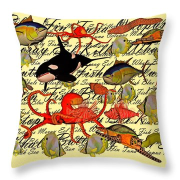 In Our Sea Throw Pillow by Betsy Knapp