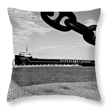 In Port Throw Pillow by Frozen in Time Fine Art Photography