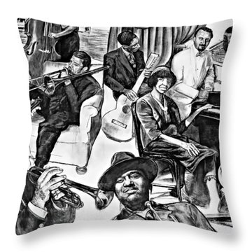 In Praise Of Jazz II Throw Pillow by Steve Harrington