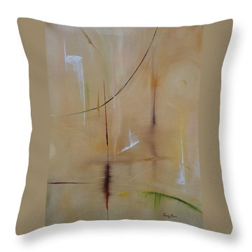 Throw Pillow featuring the painting In Pursuit Of Youth by Judith Rhue