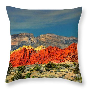 In Red Mountain 1 Throw Pillow