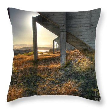 Throw Pillow featuring the photograph In Ruinous Shadow by Chris Anderson