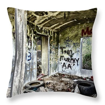 In Ruins Throw Pillow