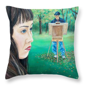 In Ryan's World Throw Pillow by Susan DeLain