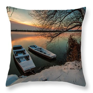 In Safe Harbor Throw Pillow