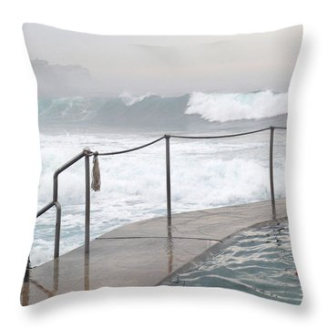 Throw Pillow featuring the photograph In Safe Waters by Evelyn Tambour