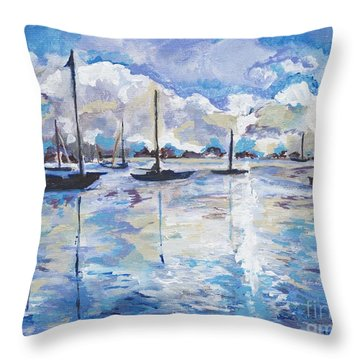 In Search For America's Freedom Throw Pillow by Helena Bebirian