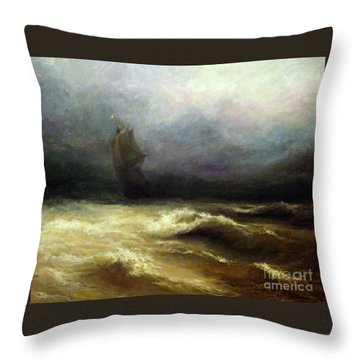 Throw Pillow featuring the painting In Shadow by Mikhail Savchenko