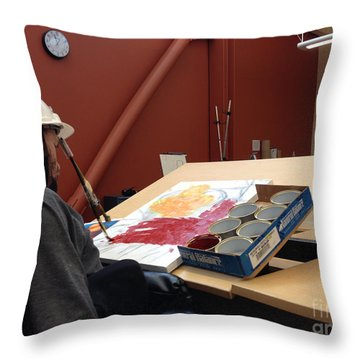 In Studio Throw Pillow