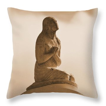 Throw Pillow featuring the photograph In Supplication by Nadalyn Larsen