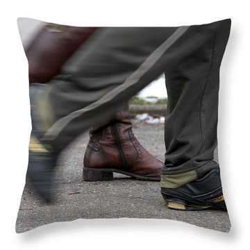 Throw Pillow featuring the photograph In Synch by Colleen Williams