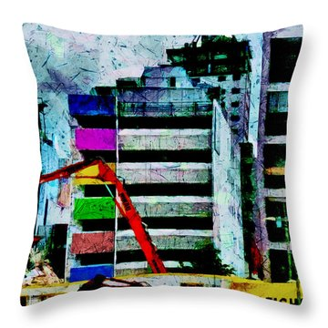 In Technicolor  Throw Pillow by Steve Taylor
