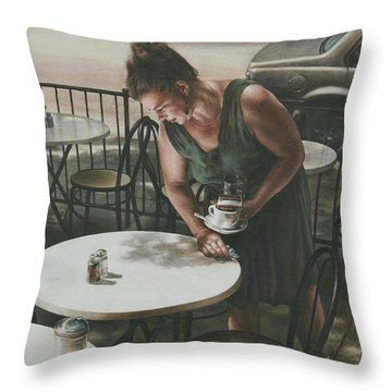 In The Absence Of A Dream Throw Pillow by Yvonne Wright