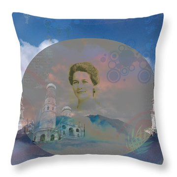 Throw Pillow featuring the digital art In The Air by Cathy Anderson