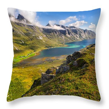 In The Arctic Circle Throw Pillow by Maciej Markiewicz