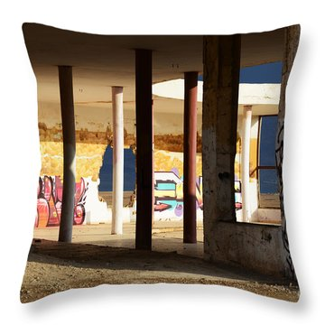 Throw Pillow featuring the photograph In The Beauty Of Abandoned 02 by Arik Baltinester